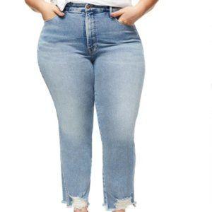Good American Good Curve Fray Hem Jeans Size 18